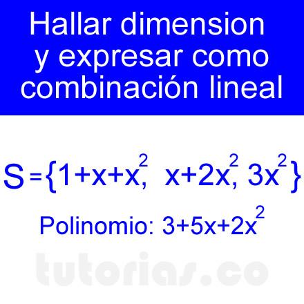 combinacion lineal