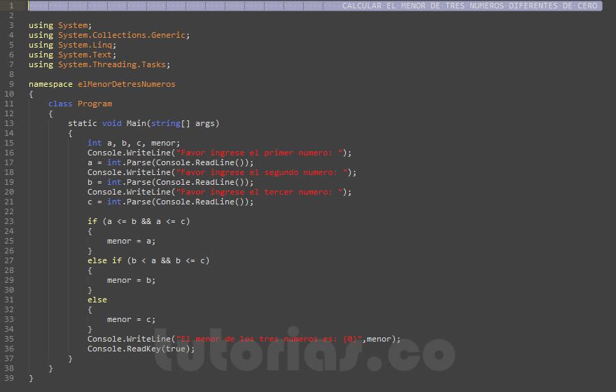programacion en visualStudio c#