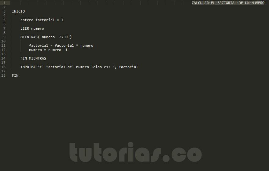 programacion pseudocodigo