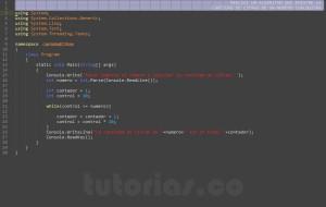 programacion en c#: cantidad de cifras de un numero