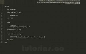 algoritmos: escrutinio de bolas