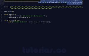 programacion en python: el escrutinio de bolas