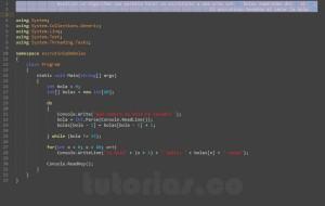 programacion en c#: escrutinio de bolas