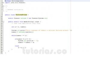 programacion en java: factores primos