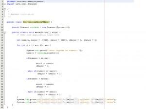 programacion en java: ocurrencias mayor y menor