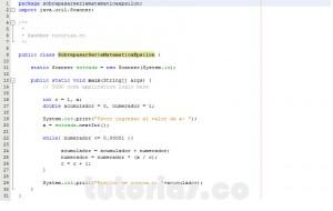 programacion en java: sobrepasar serie matematica epsilon