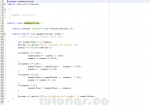programacion en java: suma de cifras