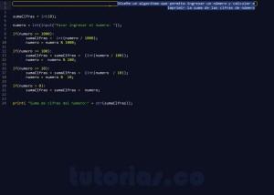 programacion en python: suma de cifras