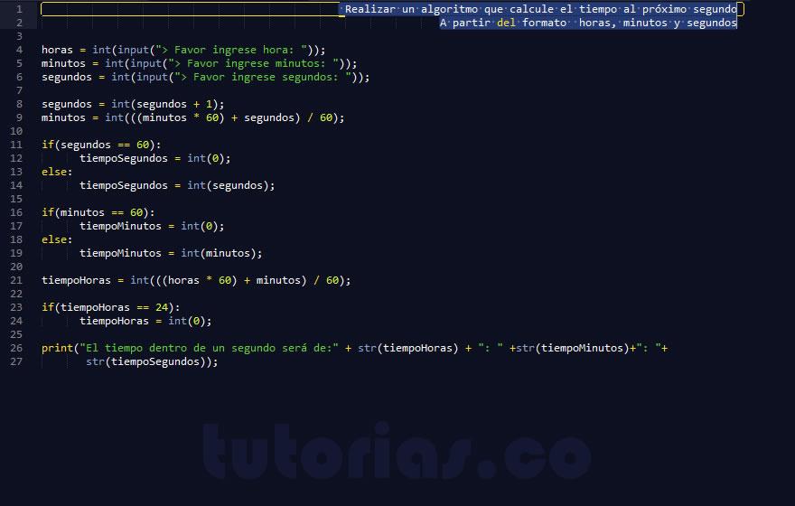 programacion en python: el tiempo al proximo segundo