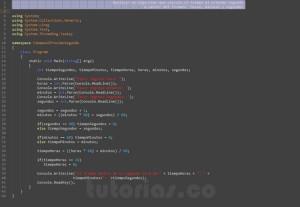 programacion en visualStudio: el tiempo al proximo segundo