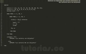 algoritmos: vectores disjuntos