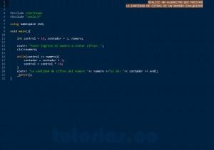 programacion en C++: cantidad de cifras de un numero