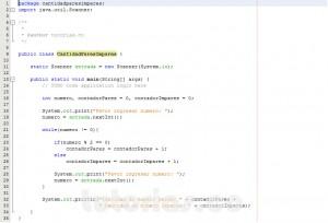 programacion en java: cantidad de numeros pares e impares