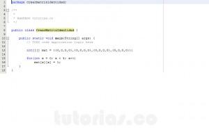 programacion en java: generar la matriz identidad