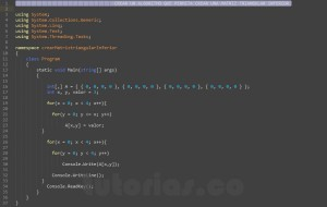 programacion en c#: crear matriz triangular inferior
