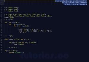 programacion en python: demostracion implicacion logica