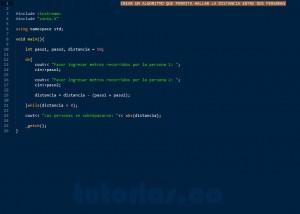 programacion en C++: distancia entre dos personas