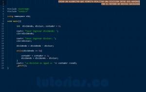 programacion en C++: division por restas sucesivas