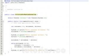programacion en java: division por restas sucesivas