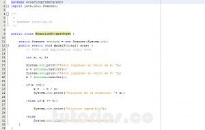 programacion en java: ecuacion de primer grado