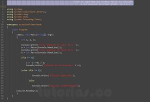 programacion en c#: ecuacion de segundo grado
