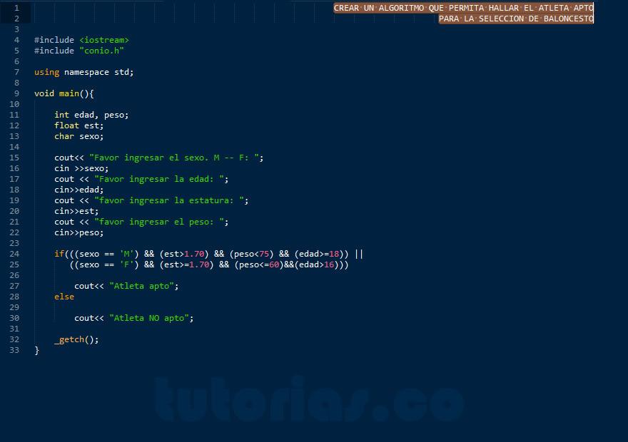 programacion en C++: el atleta apto