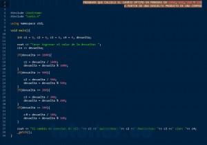 programacion en C++: el cambio optimo