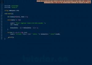 programacion en C++: escrutinio de bolas