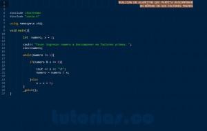 programacion en C++: factores primos