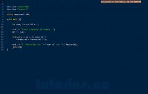 programacion en C++: factorial de un numero