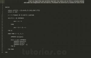 programacion en pseudocodigo: figura asterisco