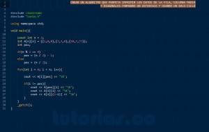 programacion en C++: imprimir datos matriz figura asterisco