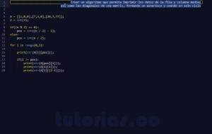 programacion en python: figura asterisco en matriz