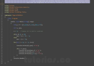 programacion en c#: imprimir datos de figura asterisco