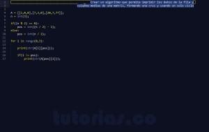 programacion en python: figura cruz en matriz