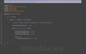 programacion en c#: figura cuadro