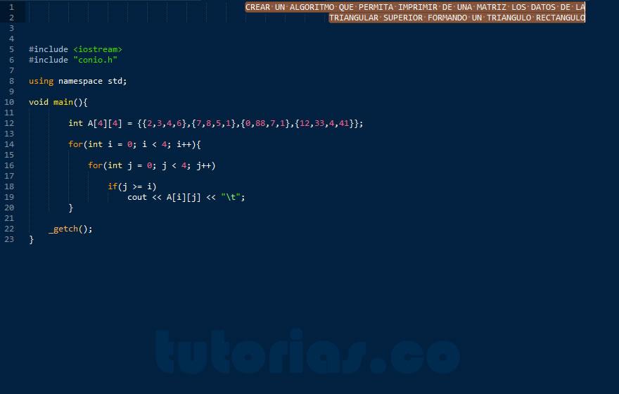 programacion en C++: figura triangulo rectangulo
