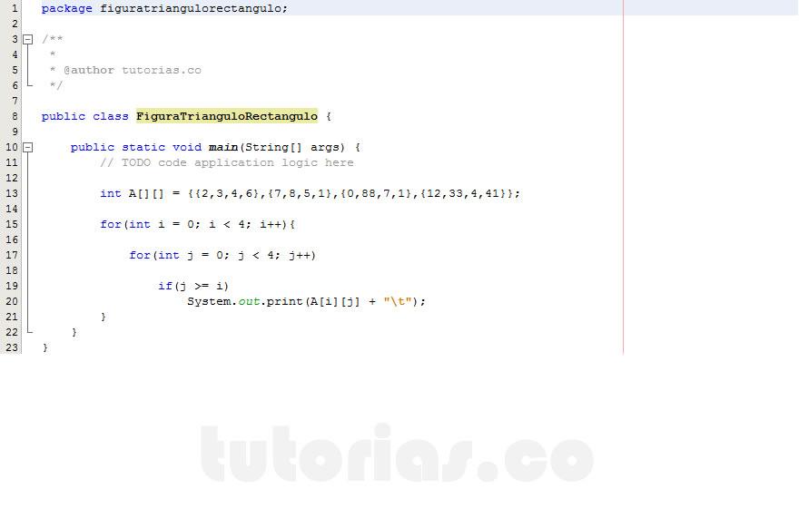 programacion en java: figura triangulo rectangulo