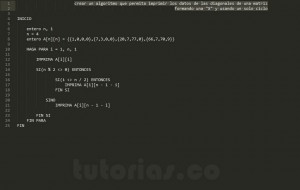 programacion en pseudocodigo: mostrar la figura X