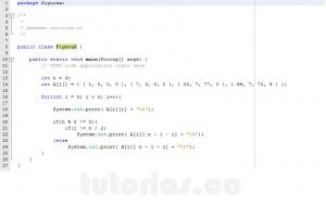 programacion en java: imprimir datos de figura X