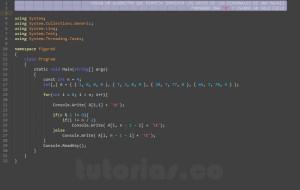 programacion en c#: imprimir datos de figura X