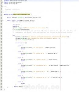 programacion en java: funciones trigonometricas