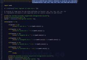 programacion en python: funciones trigonometricas