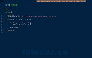 programacion en C++: imprimir una matriz en orden inverso
