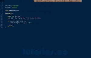programacion en C++: imprimir un vector en orden inverso
