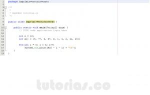 programacion en java: imprimir un vector en orden inverso
