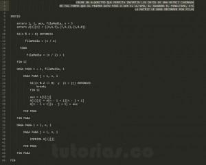 algoritmos: invertir matriz cuadrada