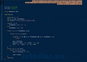 programacion en C++: invertir matriz cuadrada