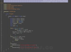 programacion en c#: ley de morgan