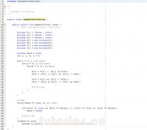 programacion en java: demostrar leyes logicas distributivas